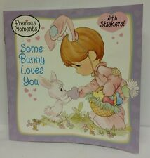 Precious Moments Some Bunny Loves You Story Book 25 Stickers 16 Pages