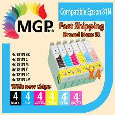 24x Generic ink cartridge 81/81N 82N for Epson Stylus R290 R390 RX590 RX610 T50
