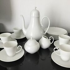 Service A Moka Rosenthal Classic Rose Vintage White Porcelain Coffee Set