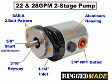 28 GPM 2 Stage Log Splitter Pump UNIVERSAL REPLACEMENT PART
