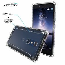 For ZTE ZMAX PRO POETIC Affinity Series Premium Thin Shockproof  TPU Case Clear