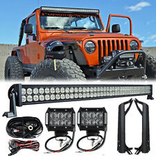 "50""inch 288W + 2x 18W LED Light Bar + Mount Brackets Fit For Jeep Wrangler TJ"