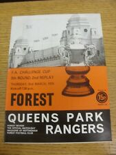 02/03/1978 nottingham forest v queens park rangers [fa cup 2nd replay] (lumière cr
