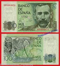 1000 Pesetas 1979 PEREZ GALDOS Serie 9D SC /  SPAIN Pick 158 Replacement  UNC