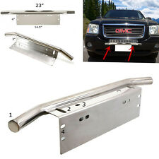 "23"" Bull Bar Car Offroad Front Bumper License Plate Fog Work Light Mount Bracket"