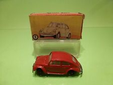 AGUTI TOYS ARGENTINA 1 VW VOLKSWAGEN BEETLE 1500 - RED 1:55? RARE - GOOD IN BOX