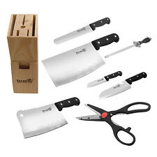 8-pcs Stainless Steel Home Professional Restaurant Kitchen Knife with Scissors