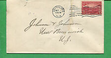 Canada Cover 1909 Dayton OH to New Brunswick #372 - S8402