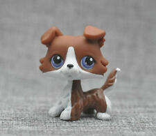 LITTLEST PET SHOP Brown White Puzzle Collie Dog LPS Loose Action Figure