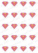 20- Nail Decals * SUPER WOMAN * SUPER HERO Water Slide Nail Art Decal COMIC BOOK
