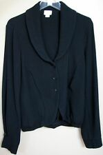 STYLISH TRANSIT PAR-SUCH BLACK WOOL BLAND BLAZER JACKET, SIZE 3 (M/L) MADE ITALY