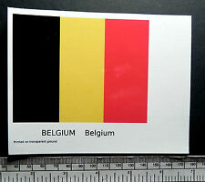 "Belgium -  flag water-slide transfer 100 x 80 mm (4"" x 3.1/8"")"