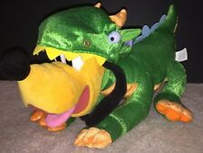 "Disney Store authentic Plush Dragon Pluto 18""  Dog Toy HTF Halloween Costume"