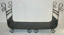 Wrought Iron Steel Fireplace Firewood Holder Log Rack Wood Storage