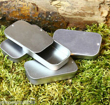 6 x 20ML SMALL SLIDING LID METAL TINS BUSHCRAFT SURVIVAL TINDER KITS PILL BOX