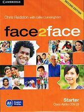 CAMBRIDGE Face2face Starter SECOND EDITION Class Audio CD's (3) A1 I Redston NEW
