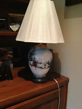 Hand Painted China Table Lamp by Frances Smoke