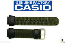 CASIO SGW-300HB-3AV Original 18mm Green Leather / Nylon Watch BAND Strap