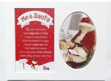 "Me & Santa  Photo Frame Mount - Album Scrap Book 10"" x 8"""