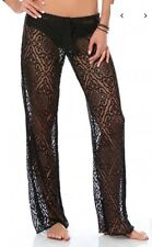 Becca by Rebecca Virtue Lace swimsuit drawstring coverup pants size M