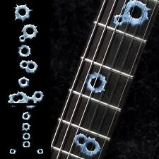 Fretmarkers Bullet Holes Fret Markers Inlay Sticker Decal Guitar