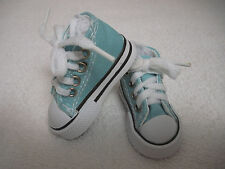 "Fits 16"" Sasha or Gregor Doll - Sea Blue High Top Sneakers - Shoes - D1298"