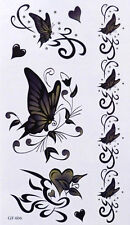 Tatouage Temporaire Papillons Cœurs 7 Stickers body art