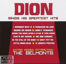 Dion Sings His Greatest Hits CD NEW The Belmonts A Teenager In Love/Teen Angel+