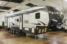 New 2017 Unleashed 373QSI Slide Out 5th Fifth Wheel Toy Hauler with Power Bunks