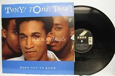 Tony Toni Tone Born Not to Know LP (VG)