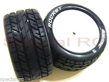 Louise RC 1/10 Buggy Tire Rocket Rear Super Soft + black insert #L-T3188VI