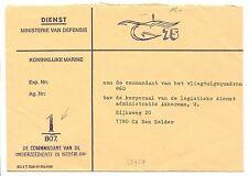 NEDERLAND 1960  DIENST CV VAN ONDERZEEBOOT DIENST 1-807   SUBMARINE  F/ VF  @1