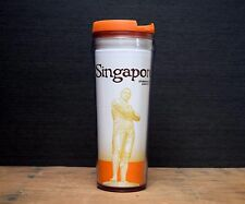 Starbucks Coffee Singapore Tumbler Orange Travel Mug Stamford Raffles 12oz