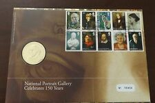 GB QEII FDC PNC B/UNC 2006 PORTRAIT GALLERY COVER AND COIN/MEDAL ROYAL MINT