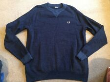 EXCELLENT CONDITION Fred Perry navy blue jumper - size L