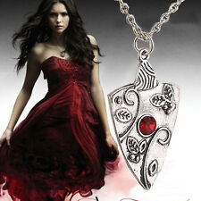 The Vampire Diaries Bonnie Bennett Ruby/Garnet Antique Silver Necklace & Pendant