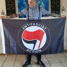 3x5 Antifa Flag (Antifascist Action RASH SHARP Skinhead)