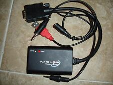 SYBA Universal VGA to HDMI Converter with Audio Support, Adapter for PC, Laptop