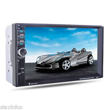 """NEW 7"""" HD Car 2 DIN MP5 Bluetooth Player GPS Navigation FM/AUX-IN/USB/SD Gift"""
