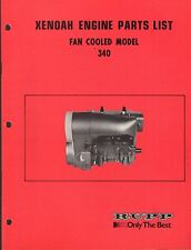 VINTAGE RUPP SNOWMOBILE XENOAH ENGINE PARTS MANUAL 340 FAN COOLED
