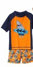 Gymboree Surfing Shark Rash Guard Top & Swimsuit Set Infant Boy 12-18 Months