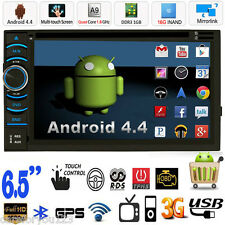 """Quad Core Android 4.4 GPS Navi Car Stereo DVD Player 2 Din 6.5"""" 3G WIFI BT Radio"""