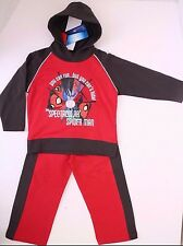 The Spectacular Spider-Man Jogging Baby 2-Piece Set RED NWT Size 2A 100% Cotton