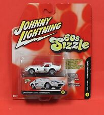 Johnny Lightning 60s Sizzle 1965 Shelby Cobra Daytona Coupe White MOC 2005 1:64