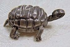 Vintage TAXCO Sterling Silver Articulated Turtle Tortoise Figural Pin Signed SH