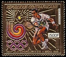 "CENTRAL AFRICAN REPUBLIC 898A - Seoul Olympics ""Tennis"" (pf28137)"
