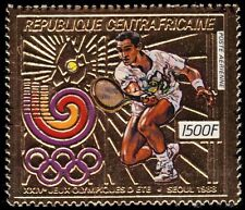 """CENTRAL AFRICAN REPUBLIC 898A - Seoul Olympics """"Tennis"""" (pf28137)"""