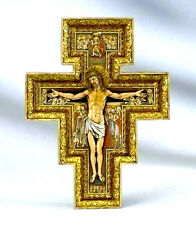 "New! 11"" Wall Cross Crucifix San Damiano INRI Home Decor Decoration Gift"