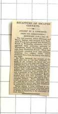 1927 Escaped Convicts Found Asleep In The Cowshed Whitehouse Farm Porchfield