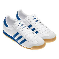 ADIDAS ORIGINAL MENS ROM WHITE/BLUE SIZE 7 8 9 10 11 TRAINERS SHOES SNEAKERS NEW